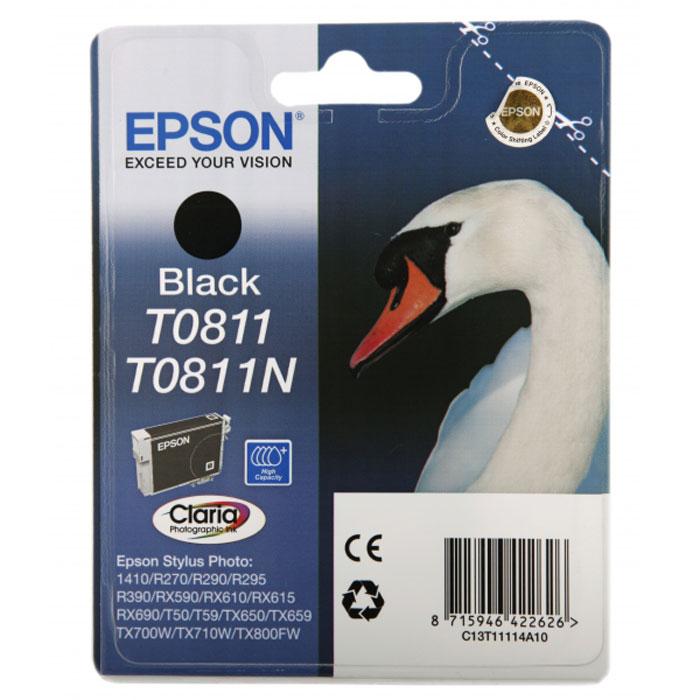 Epson T0811 (C13T11114A10), Black картридж для Stylus Photo R270/R290/RX590C13T11114A10Картридж Epson T081 с чернилами для струйной печати.