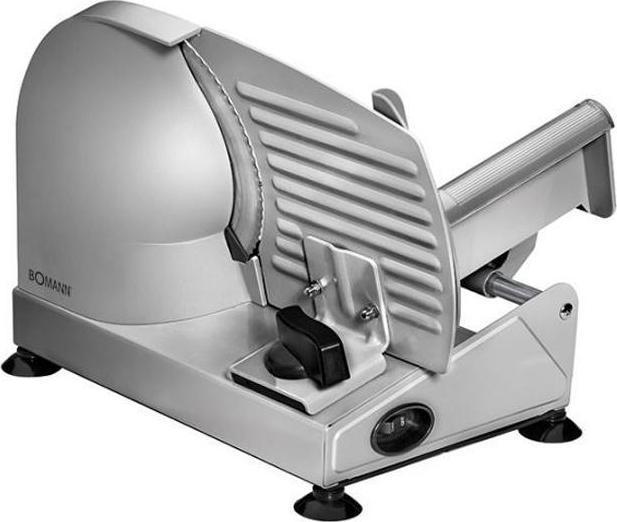 Bomann MA 451 CB, Silver ломтерезкаMA 451 CB silberКорпус из нержавеющей стали, нож из нерж.стали, 230 В, 50 Гц, 150 Вт.