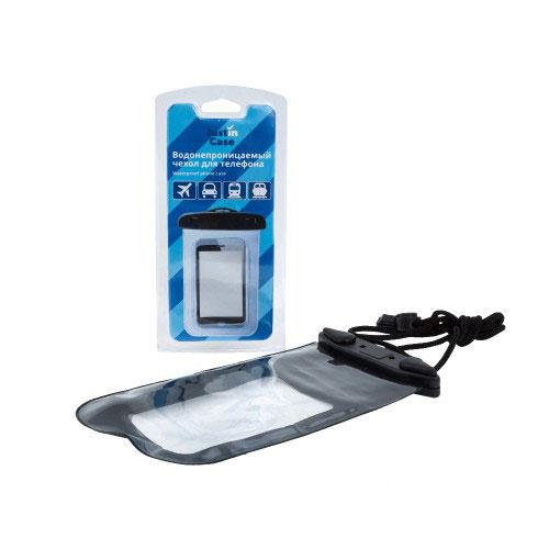 Водонепроницаемый чехол для телефона JustinCase, цвет: прозрачный. G5134G5134Водонепроницаемый чехол для телефона JustinCase обеспечит надежную защиту любой модели мобильного телефона. Специально разработанный PVC материал позволит ответить на звонок не вынимая телефон из чехла. Материал чехла также проводит звук.