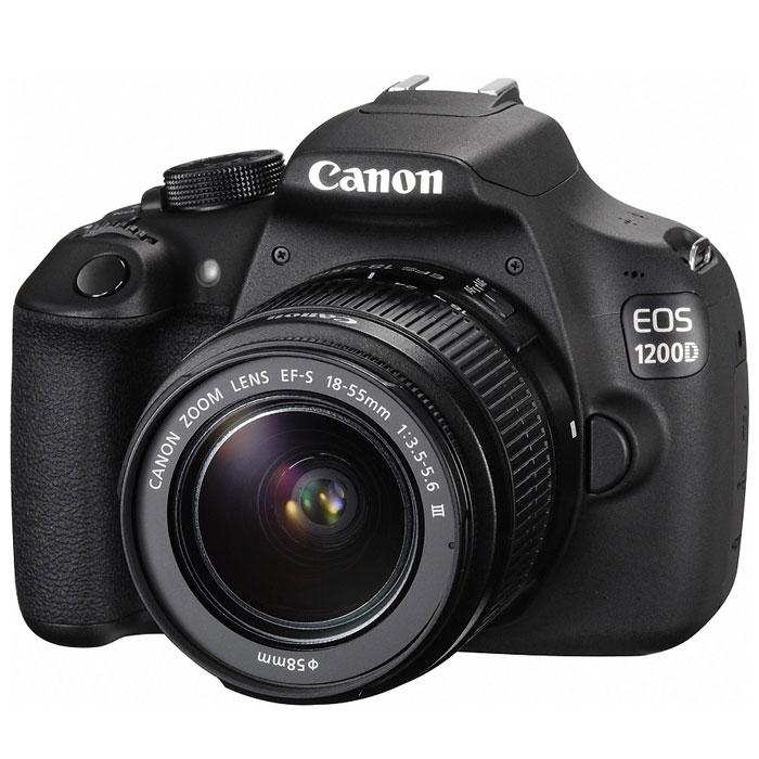 Canon EOS 1200D Kit 18-55 III, Black цифровая зеркальная фотокамера9127B009Цифровая зеркальная фотокамера Canon EOS 1200D выпускается с сопутствующим приложением «Помощник EOS» (EOS Companion) для мобильных устройств. Это приложение содержит обучающие материалы и полезные советы, которые помогут пользователю получить максимальную отдачу от новой камеры. Модель EOS 1200D сочетает в себе передовую систему обработки изображений Canon и удобные, интуитивно понятные элементы управления; кроме того, в камере предусмотрены режимы автоматической съемки, так что даже у новичка легко получится сделать великолепные снимки. Приложение Помощник EOS: С помощью приложения Помощник EOS и удобного руководства для начинающих пользователь сможет быстро освоить управление камерой и ее функции и уверенно начать фотографировать особые моменты своей жизни. Приложение содержит ряд видеоуроков и пошаговых упражнений, которые позволяют освоить основы искусства фотографии в удобном для начинающего фотографа темпе. Раздел «Творчество» построен на ...
