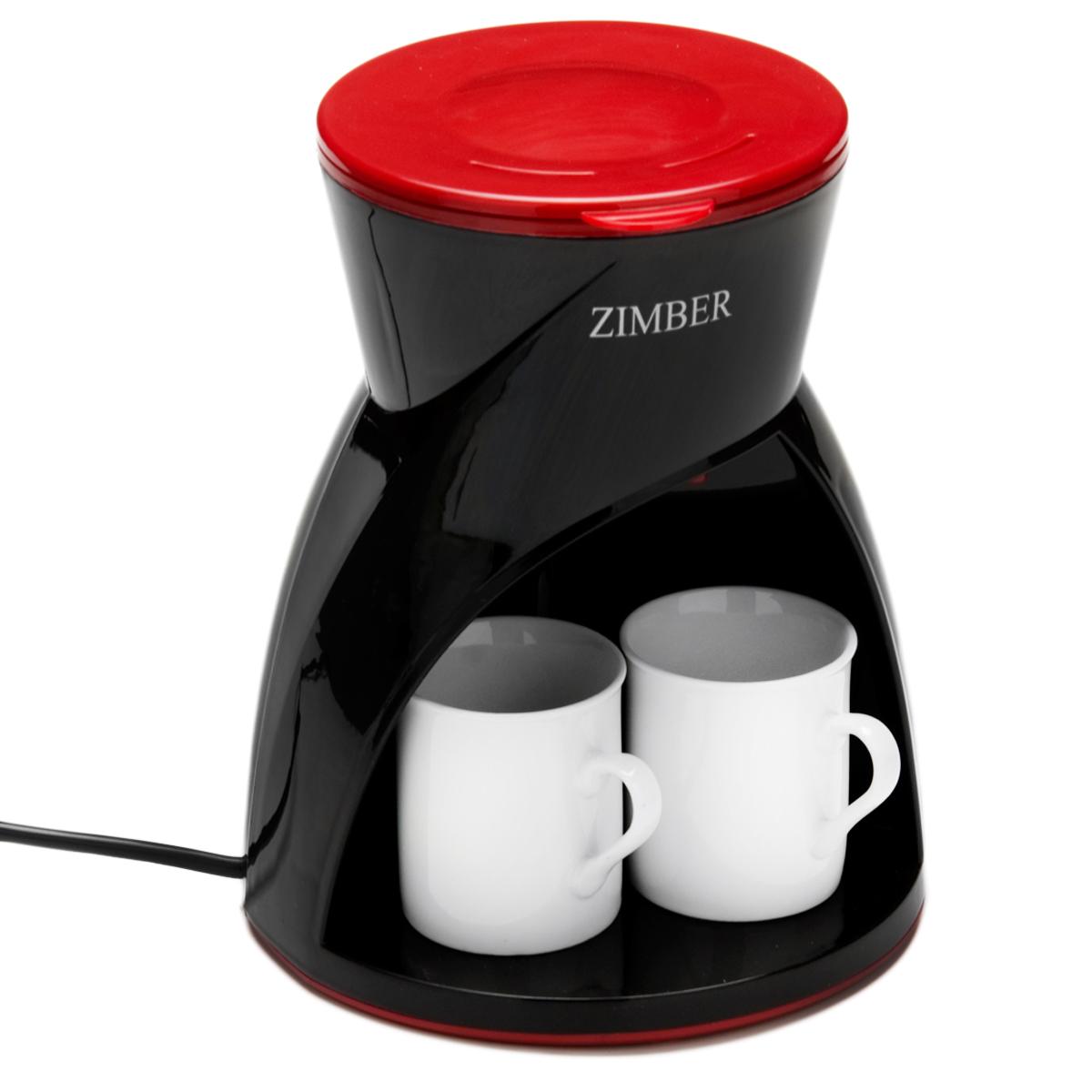 Zimber ZM-10982 кофеваркаZM-10982Кофеварка Zimber ZM-10982 представляет собой современный аппарат, сочетающий в себе компактность, функциональность и практичность. Модель мощностью 450 Вт позволяет приготовить 2 чашки вашего любимого напитка нажатием буквально одной кнопки. Кофе варится под высоким давлением в 15 бар, тем самым извлекается максимум вкуса и аромата из кофейных зерен.Кофеварка изготовлена из высококачественного полипропилена, устойчивого к высоким температурам и влажности. Оснащена индикатором включения/выключения и индикатором уровня воды. Специальные режимы позволяют вам регулировать температуру напитка и его крепость. В комплекте поставляются 2 керамические кружки по 150 мл.Благодаря стильному дизайну Zimber ZM-10982 впишется в любую современную кухню.