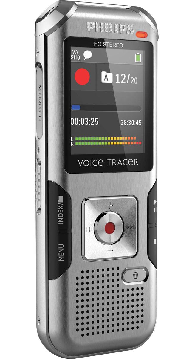 Philips DVT4000 диктофонDVT4000Philips DVT4000 - цифровой диктофон прочном и легком корпусе. Благодаря подобной конструкции устройство защищено металлической поверхностью корпуса и является удобным в обращении. Функция AutoAdjust+ Запись речи в различных условиях часто представляет собой трудную задачу. AutoAdjust+ является инновационным интеллектуальным алгоритмом записи, который анализирует и автоматически регулирует параметры входящих сигналов, выбирая идеальные настройки для каждой конкретной ситуации, в которой производится запись. При этом производится выбор и регулировка соответствующих параметров звучания, таких как чувствительность микрофона, шумовой фильтр, подавление шумов и правый и левый каналы записи. Высококачественный микрофон Оба высококачественных стереомикрофона обеспечивают кристально чистое звучание. Более высокий уровень чувствительности записи обеспечивает более сильный сигнал без ущерба для качества воспроизведения звука. Таким образом, Вам...