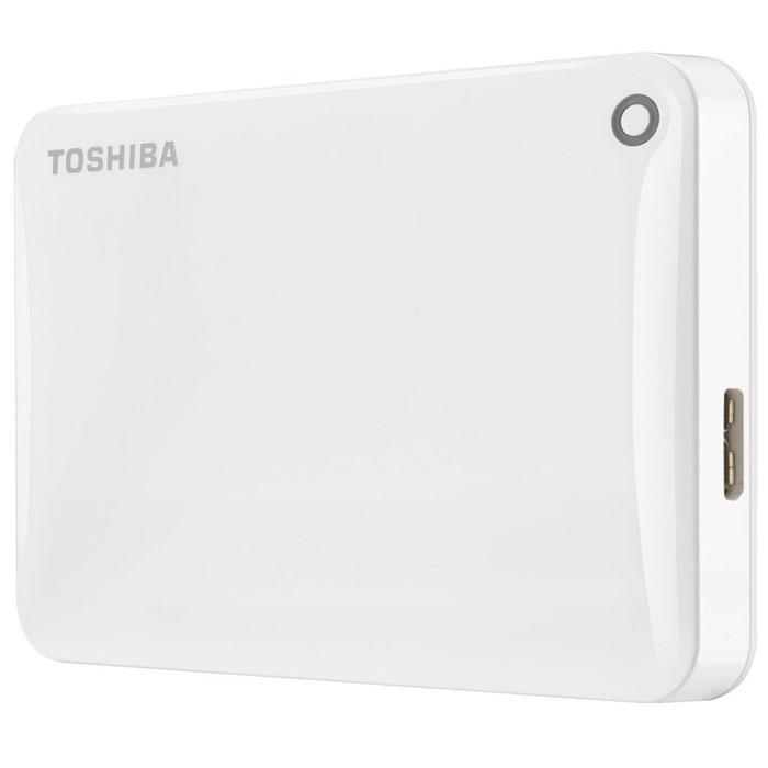 Toshiba Canvio Connect II 1TB, White внешний жесткий диск (HDTC810EW3AA)HDTC810EW3AAToshiba Canvio Connect II дает вам возможность быстро передавать файлы с интерфейсом USB 3.0 и хранить до 3 ТБ данных на внешнем жестком диске. Устройство полностью готово для работы с Microsoft Windows и не требует установки программного обеспечения, так что ничего не может быть удобнее для хранения всех ваших любимых файлов. В офисе или в дороге его классический дизайн будет всегда уместен. Более того, Toshiba Canvio Connect II позволяет подключаться также и к оборудованию с совместимостью USB 2.0. Этот внешний накопитель обеспечивает доступ к вашим файлам практически из любого места и с любого устройства. Toshiba Canvio Connect II может легко превратить ваш компьютер в облачный сервер благодаря предустановленному ПО для удаленного доступа (накопитель должен быть подключен к компьютеру и Wi-Fi). Помимо удаленного доступа это устройство предоставляет своему владельцу 10 ГБ дополнительного места в облачном сервисе. Программное обеспечение NTI Backup Now EZ обеспечивает...