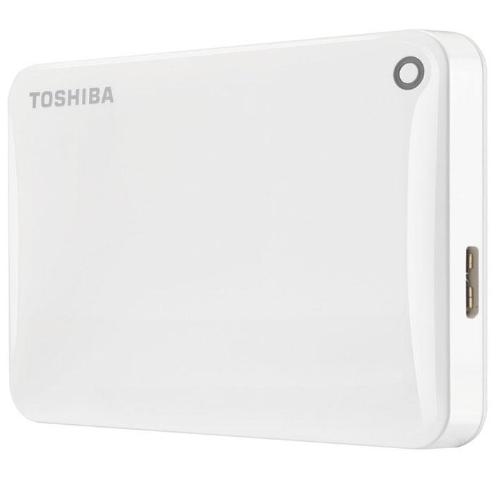 Toshiba Canvio Connect II 500GB, White внешний жесткий диск (HDTC805EW3AA)HDTC805EW3AAToshiba Canvio Connect II дает вам возможность быстро передавать файлы с интерфейсом USB 3.0 и хранить до 3 ТБ данных на внешнем жестком диске. Устройство полностью готово для работы с Microsoft Windows и не требует установки программного обеспечения, так что ничего не может быть удобнее для хранения всех ваших любимых файлов. В офисе или в дороге его классический дизайн будет всегда уместен. Более того, Toshiba Canvio Connect II позволяет подключаться также и к оборудованию с совместимостью USB 2.0. Этот внешний накопитель обеспечивает доступ к вашим файлам практически из любого места и с любого устройства. Toshiba Canvio Connect II может легко превратить ваш компьютер в облачный сервер благодаря предустановленному ПО для удаленного доступа (накопитель должен быть подключен к компьютеру и Wi-Fi). Помимо удаленного доступа это устройство предоставляет своему владельцу 10 ГБ дополнительного места в облачном сервисе. Программное обеспечение NTI Backup Now EZ обеспечивает...