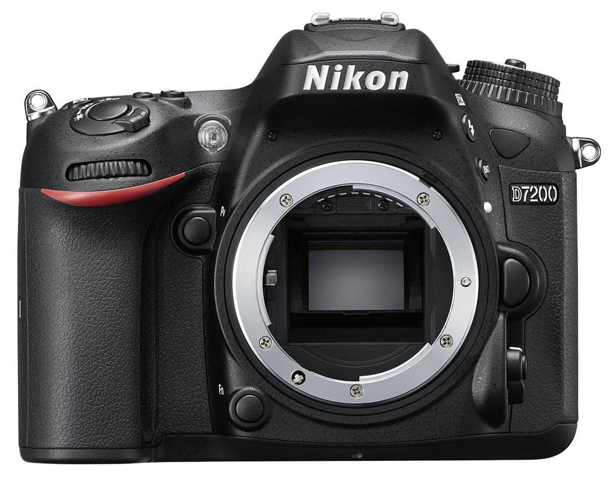Nikon D7200 Body, Black цифровая зеркальная фотокамераVBA450AEСовершенствуйте искусство фотографии с инновационной фотокамерой Nikon D7200. Эта цифровая зеркальная фотокамера формата DX гарантирует получение превосходных резких изображений и видео в отличном качестве, а также предоставляет все возможности для связи. Nikon D7200 - универсальная модель с быстрым откликом, которая превосходит любые ожидания. Реальность превосходит ожидания Невероятная детализация изображений с 24,2-мегапиксельной матрицей: создавайте фотографии с совершенно новым уровнем качества. Фотокамера D7200 оснащена матрицей формата DX с разрешением 24,2 мегапикселя, в конструкции которой не используется оптический низкочастотный фильтр (OLPF), что позволяет в полной мере реализовать потенциал матрицы для создания неизменно резких изображений в широком динамическом диапазоне, с низким уровнем шума и насыщенными цветами. АФ профессионального уровня Благодаря лучшей в своем классе системе АФ фотокамера D7200 фокусируется с...