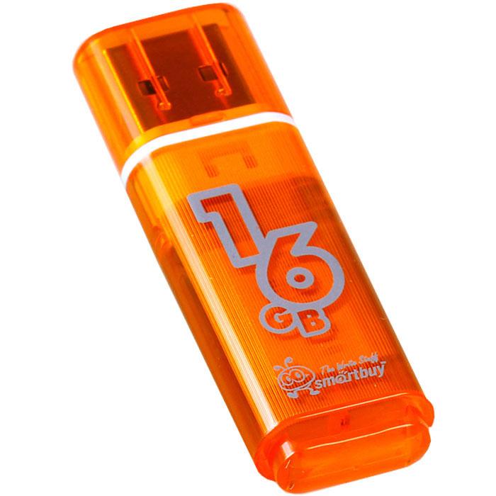 SmartBuy Glossy Series 16GB, Orange USB-накопитель