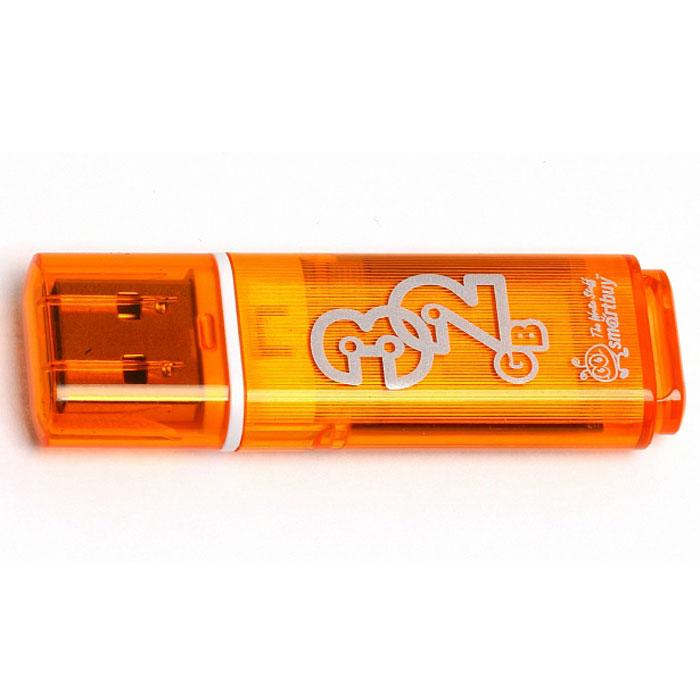 SmartBuy Glossy Series 32GB, Orange USB-накопительSB32GBGS-OrКорпус USB-накопителя SmartBuy Glossy Series 32GB сделан из прозрачного пластика с белой полоской, проходящей между корпусом и колпачком. Glossy оборудован специальной системой для крепления колпачка - с помощью скобки он фиксируется между двумя выступающими пластинками на устройстве. Это очень удобно и минимизирует вероятность потери защитного колпачка. За эту же скобку устройство можно прикрепить к шнурку, чтобы накопитель всегда был под рукой.Пропускная способность интерфейса: 480 Мбит/секСовместим с: Windows 7, Windows 8, Windows Vista, Windows XP, Windows 2000, Linux, MAC OS X