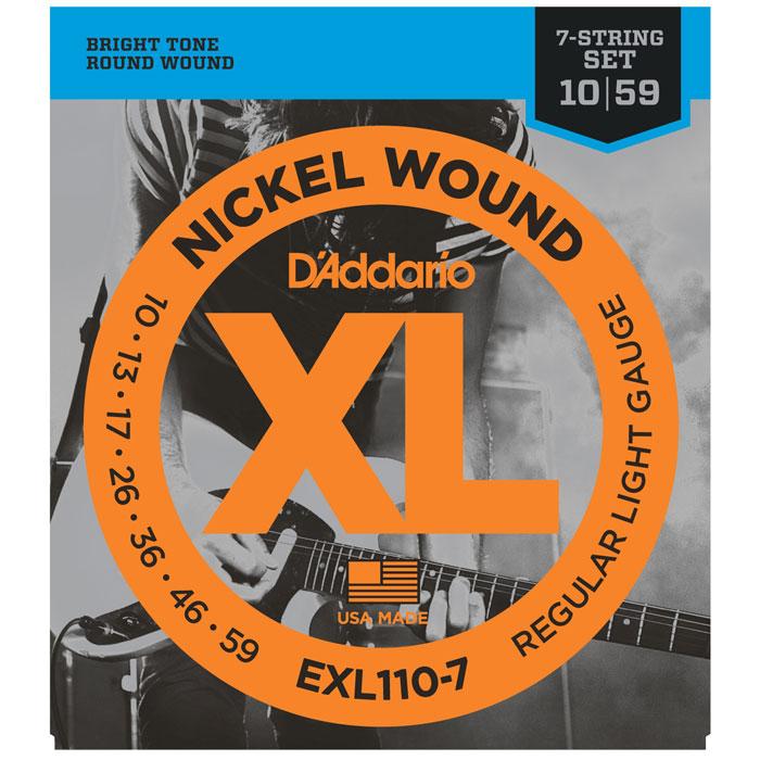 D'Addario EXL110-7 Nickel Wound струны для электрогитары