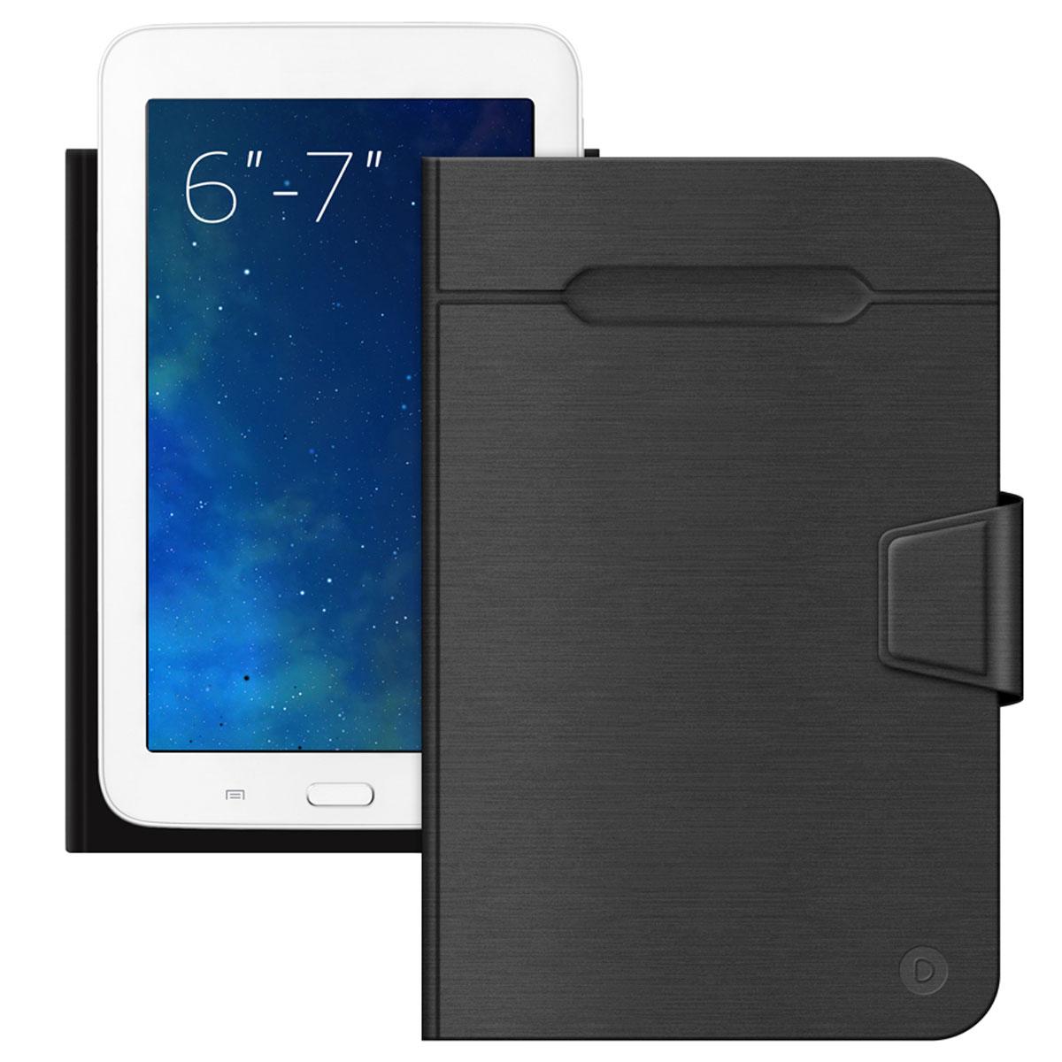 Deppa Wallet Fold чехол-подставка для планшетов и электронных книг 6-7, Black87025Универсальный чехол Deppa Wallet Fold предназначен для защиты корпуса планшета или электронной книги диагональю 6-7 от механических повреждений и царапин в процессе эксплуатации. Верхняя часть чехла отгибается для фотографирования. Функция подходит для планшетов с любым расположением камер. Устройство фиксируется внутри чехла при помощи клеевого стикера. Имеется свободный доступ ко всем разъемам и кнопкам устройства.