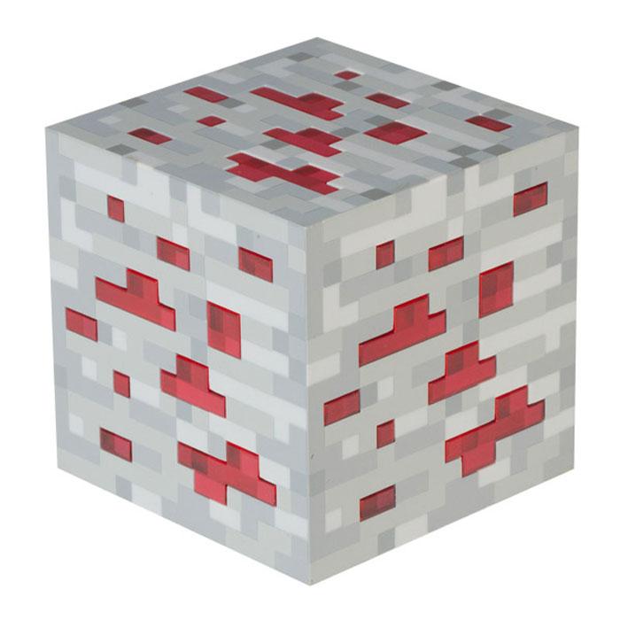Лампа настольная Minecraft Redstone OreJ00262Minecraft Redstone Ore - настольная лампа из прочного пластика с оригинальным дизайном из одноименной популярной видеоигры. Прибор имеет три уровня яркости, а также функцию автоматического выключения при касании (свет выключается через 3 минуты).