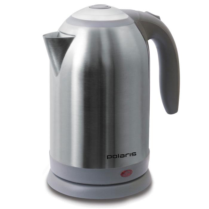 Polaris PWK 1864CA, Silver Gray электрический чайникPWK 1864CAЭлектрический чайник Polaris PWK 1864CA отвечает всем современным требованиям. Он обеспечивает быстрый нагрев воды - за счет мощности 2200 Вт вы получаете кипяток за считанные минуты. Кроме того, данная модель отличается нестандартным объемом - 1,8 литров, что позволит сделать чай для большой компании. Корпус чайника и внутренняя часть крышки изготовлены из высококачественной нержавеющей стали. Данная модель, помимо прочего, оснащен безопасным стальным фильтром для очистки воды, который препятствует попаданию накипи и различных механических примесей в ваш напиток. Шкала уровня воды поможет определить, когда нужно добавить воду. Обратите внимание на широкий носик, благодаря чему вы можете заливать воду, не открывая крышку. Для хранения шнура предусмотрен специальный отсек.