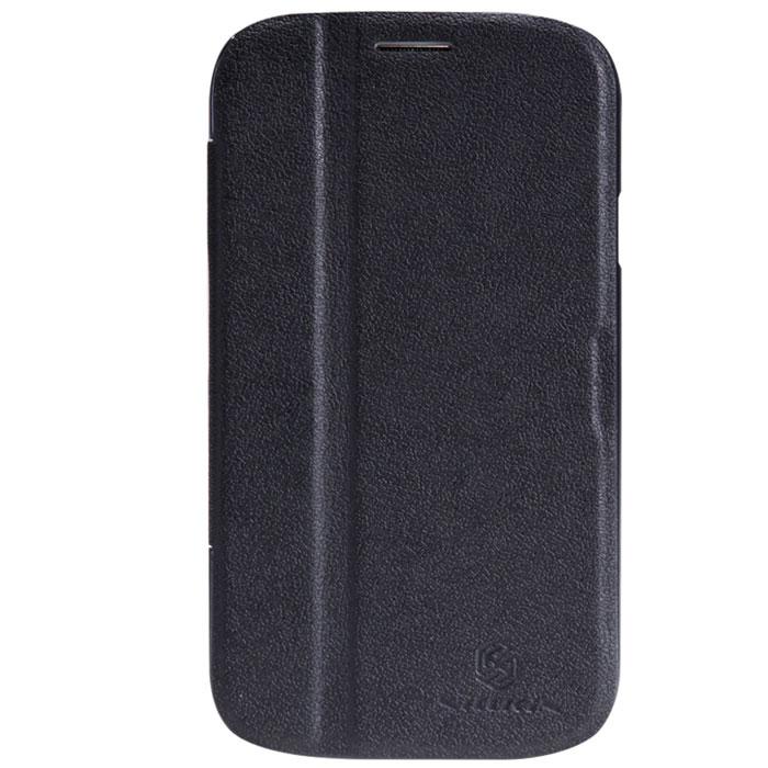 Nillkin Fresh Series Leather Case чехол для Samsung Galaxy Grand Duos, BlackT-N-SI9082-001Чехол Nillkin Fresh Series Leather Case сделан из высококачественного поликарбоната и экокожи. Он надежно фиксирует и защищает смартфон при падении. Обеспечивает свободный доступ ко всем разъемам и элементам управления.