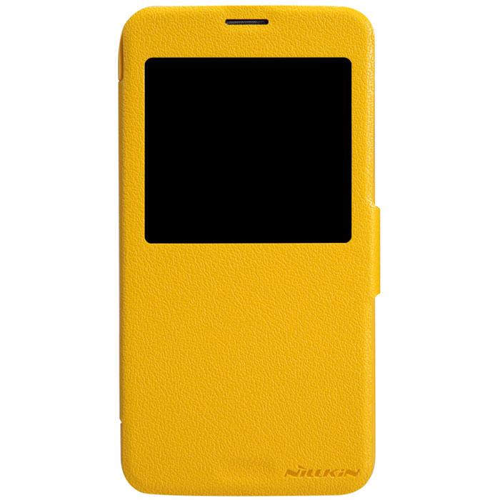 Nillkin Fresh Series Leather Case чехол для Samsung Galaxy S5, YellowT-N-SG900-001Чехол Nillkin Fresh Series Leather Case сделан из высококачественного поликарбоната и экокожи. Он надежно фиксирует и защищает смартфон при падении. Обеспечивает свободный доступ ко всем разъемам и элементам управления. Уникальный дизайн чехла с окном для экрана, в котором отображаются все важные иконки. Нет необходимости открывать чехол для того, чтобы установить время, выбрать музыку, сделать фото, ответить на звонок или прочитать сообщение.