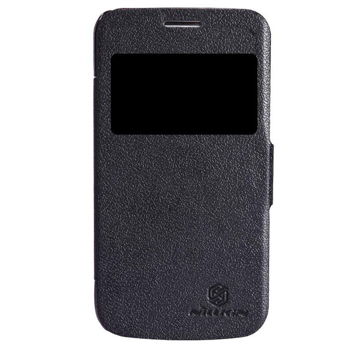Nillkin Fresh Series Leather Case чехол для Samsung Galaxy Trend 3, BlackT-N-SG3502U-001Чехол Nillkin Fresh Series Leather Case сделан из высококачественного поликарбоната и экокожи. Он надежно фиксирует и защищает смартфон при падении. Обеспечивает свободный доступ ко всем разъемам и элементам управления.Уникальный дизайн чехла с окном для экрана, в котором отображаются все важные иконки. Нет необходимости открывать чехол для того, чтобы установить время, выбрать музыку, сделать фото, ответить на звонок или прочитать сообщение.