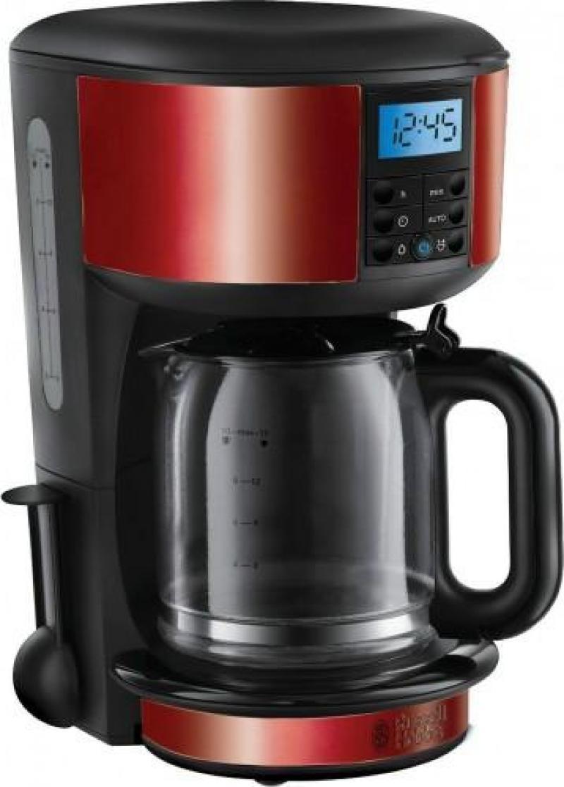 Russell Hobbs 20682-56 Legacy, Red кофеварка20682-56В 1952 году Russell Hobbs представил первую в мире электрическую кофеварку с функцией поддержания тепла. Кофеварка Legacy обладает оригинальным дизайном с чертами первой кофеварки Russell Hobbs и отличается компактными размерами. Кофеварка обладает улучшенной технологией подачи воды для максимального смачивания всей поверхности молотого кофе, гарантирует сохранение богатого вкуса и аромата, а оптимальная температура воды для заваривания кофе достигается на 50% быстрее. Кофеварка Legacy может приготовить до 10 чашек за одно заваривание (емкость стеклянного кувшина: 1,25 л). А если вам необходимо меньше - просто выберите опцию на 1-4 чашки. Кофеварка обладает цветным кольцом с красной подсветкой, которое отражает режим заваривания и функцию поддержания тепла после приготовления.