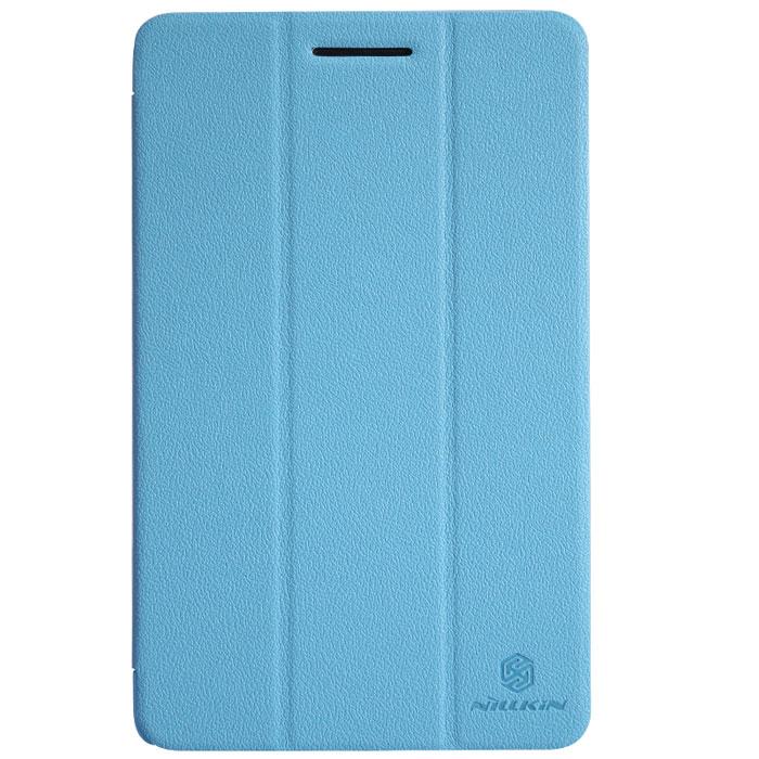 Nillkin Fresh Series Leather Case чехол для Lenovo S5000, BlueP-N-LS5000Чехол Fresh Series Leather Case сделан из высококачественного поликарбоната и экокожи. Он надежно фиксирует и защищает планшет при падении. Обеспечивает свободный доступ ко всем разъемам и элементам управления.