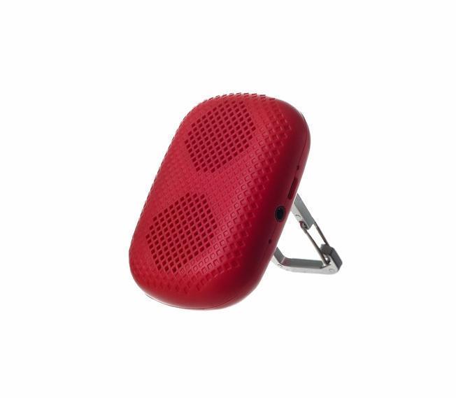 Harper PS-041, Red портативная колонкаPS-041 RedHarper PS-041 позволит прослушивать любимые треки где бы вы не находились. Мини-колонка достаточно компактная и легкая. Ее можно взять с собой на прогулку, в дорогу или на природу. Посредством беспроводного канала динамик легко подключается практически к любому современному устройству, в том числе смартфону, планшету или ноутбуку, при этом радиус действия сигнала составляет до 10 метров. В случае, когда плеер не оснащен модулем беспроводной связи, его подключение к мини-колонке производится через порт AUX. Все кнопки управления находятся на задней панели. LED индикатор, вынесенный на боковую грань, сообщит пользователю о низком заряде аккумулятора. Чтобы ответить на звонок, вам не нужно доставать телефон из кармана, достаточно кратко нажать на кнопку Hand-Free. Встроенный микрофон расположен рядом с разъемом для подзарядки и входом AUX. Мини-колонка оснащена карабином, который позволяет установить устройство на ровную поверхность или пристегнуть к сумке.Время работы через Bluetooth до 7 часов. Bluetooth V2.1Мощность 2ВтМаксимальная дальность работы - 10 метров Встроенный микрофон.