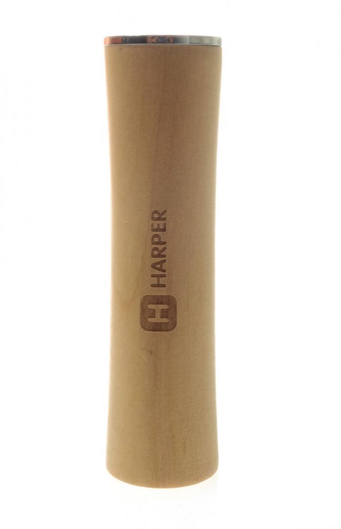 Harper PB-2600, Beech внешний аккумуляторPB-2600 beechHarper PB-2600- современный мобильный внешний аккумулятор, подходящий для практически всех мобильных устройств. Его корпус выполнен из дерева, но выглядит устройство довольно стильно и элегантно.На боковых сторонахHarper PB-2600 есть два USB разъема, один из которых micro USB. Емкости аккумулятора достаточно чтобы зарядить несколько устройств, она составляет 2600 мАч. Благодаря, тому, что внешний аккумулятор компактен, он будет всегда у вас под рукой куда бы вы не решили отправиться.