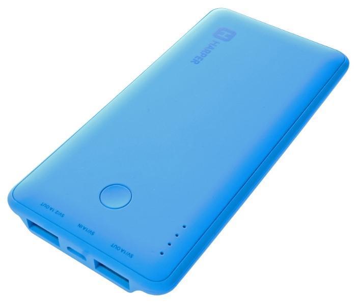 Harper PB-6001, Blue внешний аккумуляторPB-6001 blueHarper PB-6001 - мобильный внешний аккумулятор, предназначенный для подзарядки таких устройств как телефон, плеер, планшет, цифровой камеры, электронная книга. Это устройство будет великолепным помощников в ситуации, когда вы находитесь вне дома, а у нужного устройства закончился заряд батареи. Данная модель имеет два USB разъема, через которые будет происходить заряд необходимого устройства. На корпусе имеется световой индикатор, который будет сигнализировать о состояние заряда внешнего аккумулятора.