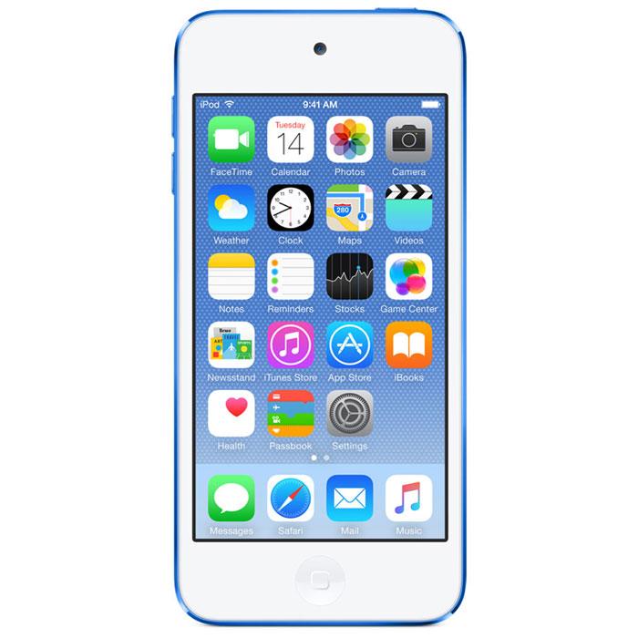 Apple iPod Touch 6G 64GB, Blue mp-плеерMKHE2RU/AApple iPod Touch 6G - это отличный способ уместить всю медиатеку в кармане. iTunes Store, самый большой в мире каталог музыки, наполнит ваш iPod touch любимыми песнями. iCloud обеспечит автоматический доступ ко всем вашим покупкам со всех ваших Apple-устройств - совершенно бесплатно. А сервис Apple Music, доступный прямо в приложении Музыка, произведет сильное впечатление. В Apple iPod Touch 6G встроен 64-битный процессор A8 уровня настольных компьютеров, разработанный Apple. Благодаря ему производительность увеличилась до шести раз по сравнению с моделью предыдущего поколения, а скорость графики выросла до 10 раз - теперь ваши любимые игры работают быстрее и выглядят ещё реалистичнее, чем прежде. Время работы от аккумулятора не изменилось - до 40 часов воспроизведения музыки и до 8 часов воспроизведения видео. Сопроцессор движения M8 постоянно измеряет данные ваших движений, используя передовые датчики, в том числе гироскоп и акселерометр....