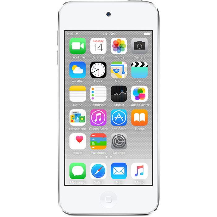Apple iPod Touch 6G 64GB, White Silver mp-3 плеерMKHJ2RU/AApple iPod Touch 6G - это отличный способ уместить всю медиатеку в кармане. iTunes Store, самый большой в мире каталог музыки, наполнит ваш iPod touch любимыми песнями. iCloud обеспечит автоматический доступ ко всем вашим покупкам со всех ваших Apple-устройств - совершенно бесплатно. А сервис Apple Music, доступный прямо в приложении Музыка, произведет сильное впечатление. В Apple iPod Touch 6G встроен 64-битный процессор A8 уровня настольных компьютеров, разработанный Apple. Благодаря ему производительность увеличилась до шести раз по сравнению с моделью предыдущего поколения, а скорость графики выросла до 10 раз - теперь ваши любимые игры работают быстрее и выглядят ещё реалистичнее, чем прежде. Время работы от аккумулятора не изменилось - до 40 часов воспроизведения музыки и до 8 часов воспроизведения видео. Сопроцессор движения M8 постоянно измеряет данные ваших движений, используя передовые датчики, в том числе гироскоп и акселерометр....