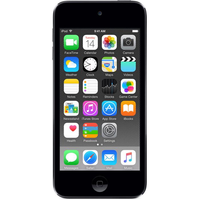 Apple iPod Touch 6G 64GB, Space Grey mp-3 плеерMKHL2RU/AApple iPod Touch 6G - это отличный способ уместить всю медиатеку в кармане. iTunes Store, самый большой в мире каталог музыки, наполнит ваш iPod touch любимыми песнями. iCloud обеспечит автоматический доступ ко всем вашим покупкам со всех ваших Apple-устройств - совершенно бесплатно. А сервис Apple Music, доступный прямо в приложении Музыка, произведет сильное впечатление. В Apple iPod Touch 6G встроен 64-битный процессор A8 уровня настольных компьютеров, разработанный Apple. Благодаря ему производительность увеличилась до шести раз по сравнению с моделью предыдущего поколения, а скорость графики выросла до 10 раз - теперь ваши любимые игры работают быстрее и выглядят ещё реалистичнее, чем прежде. Время работы от аккумулятора не изменилось - до 40 часов воспроизведения музыки и до 8 часов воспроизведения видео. Сопроцессор движения M8 постоянно измеряет данные ваших движений, используя передовые датчики, в том числе гироскоп и акселерометр....