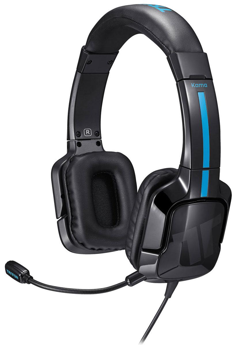 Tritton Kama Stereo Headset, Black игровая гарнитура PS4/PS Vita (TRI906390002/02/1)EO-EG920LWEGRUTritton Kama Stereo Headset - игровая гарнитура для PlayStation 4, PlayStation Vita и мобильных устройств. Выход в он-лайн чат PS4 Игровая гарнитура Tritton Kama специально создана для онлайн-сред системы PlayStation 4 и гарантирует чистый звук игрового чата. Гарнитуру можно подключить непосредственно к беспроводному геймпаду Dualshock 4 – и практически к любому устройству с разъемом 3,5 мм: что бы ни происходило с вами в мире игры, полноценный стереозвук вам обеспечен. Простое подключение Plug-and-Play Настроить стереозвук в Kama очень просто – достаточно подключить кабель 3,5 мм к геймпаду PS4, и подключение завершено. Создана для голосовых и групповых чатов PlayStation 4 Какую бы игру вы ни выбрали — FIFA 14 или Call of Duty: Ghosts, — Kama перевернет ваше представление об игре на PS4 и обеспечит связь с другими игроками на расстоянии. Прелесть группового чата для PS4 в том, что с помощью Kama вы можете общаться с семью...