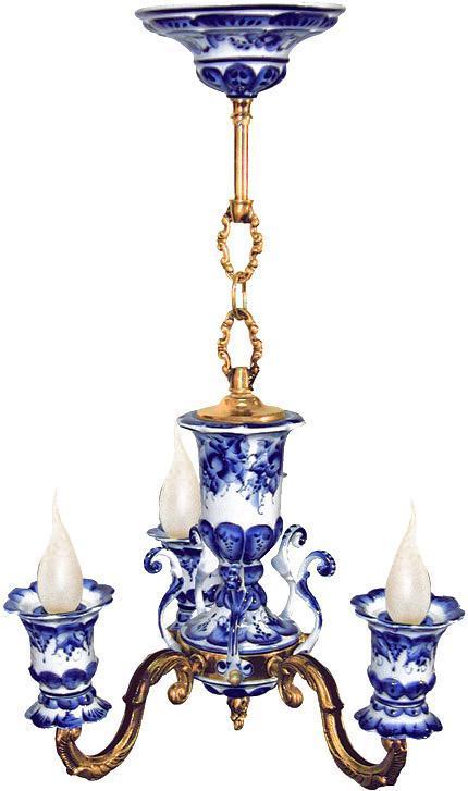 Люстра Каприз 3-х рожковая. 993016510993016510Обращаем ваше внимание, что роспись на изделиях сделана вручную. Рисунок может немного отличаться от изображения на фотографии. Цвет: белый/синий Цвет: белый/синий