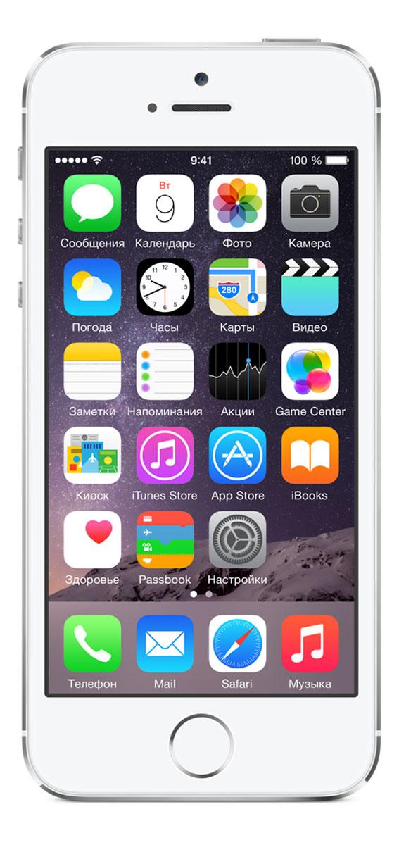 Apple iPhone 5s 16GB, SilverME433RU/AiPhone 5s оснащён 64-разрядным процессором A7, новой 8-мегапиксельной камерой iSight со вспышкой True Tone и уникальным датчиком отпечатков пальцев Touch ID. Процессор A7 в iPhone 5s впервые привносит в мир смартфонов 64-разрядную архитектуру уровня настольных систем. Производительность процессора и графики выросла почти вдвое, поэтому практически любые задачи выполняются ещё быстрее и лучше: от запуска приложений и редактирования фотографий до игр, насыщенных графикой - и всё это при удивительно долгой работе от аккумулятора. iPhone 5s - лучшее мобильное игровое устройство с доступом к сотням тысяч игр в магазине App Store, оснащённое процессором A7 с 64-разрядной архитектурой и поддержкой OpenGL ES версии 3.0. Каждый iPhone 5s оснащён новым процессором движения M7, который собирает данные с датчика ускорения, гироскопа и компаса, чтобы разгрузить процессор A7 и повысить энергоэффективность. Разработчики также могут пользоваться новыми...