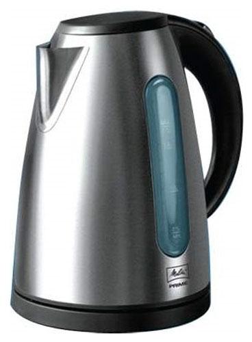 Melitta Prime CH электрочайникPrime CHЭлектрический чайник Melitta Prime быстро вскипятит воду для вашего чая и станет настоящим украшением вашей кухни. Прибор оснащен подсветкой корпуса синего цвета, которая включается, когда чайник начинает работать.