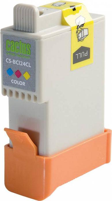 Cactus CS-BCI24CL, Color струйный картридж для Canon S200/ S200x/ S300/ S330/ S330 Photo; i250/ i320/ i350/ i450CS-BCI24CLКартридж Cactus CS-BCI24CL для струйных принтеров Canon. Расходные материалы Cactus для печати максимизируют характеристики принтера. Обеспечивают повышенную четкость изображения и плавность переходов оттенков и полутонов, позволяют отображать мельчайшие детали изображения. Обеспечивают надежное качество печати.