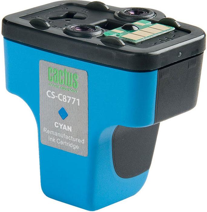 Cactus CS-C8771, Cyan струйный картридж для HP PhotoSmart 3213/3313/8253/C5183/C6183/C6283/C7183/C7283