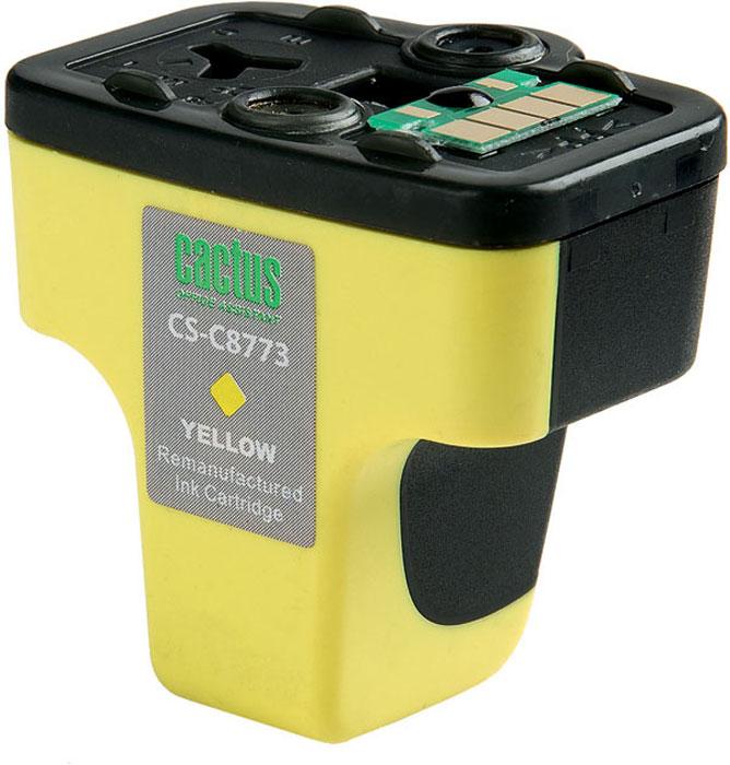 Cactus CS-C8773, Yellow струйный картридж для HP PhotoSmart 3213/3313/8253/C5183/C6183/C6283/C7183/C7283