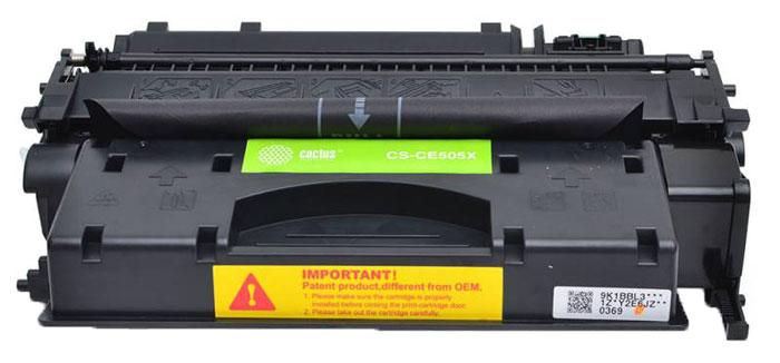 Cactus CS-CE505XS, Black тонер-картридж для HP LJ2055CS-CE505XSКартридж Cactus CS-CE505XS для лазерных принтеров HP. Расходные материалы Cactus для лазерной печати максимизируют характеристики принтера. Обеспечивают повышенную чёткость чёрного текста и плавность переходов оттенков серого цвета и полутонов, позволяют отображать мельчайшие детали изображения. Обеспечивают надежное качество печати.