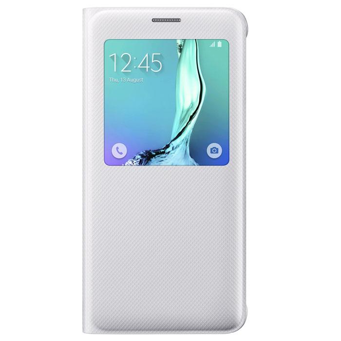 Samsung EF-CG928 S-View чехол для Galaxy S6 Edge+, WhiteEF-CG928PWEGRUЧехол разработан в Samsung специально для Galaxy S6 Edge+. На флипе находится окошечко где вы всегда сможете видеть важную информацию, это время, дата, уровень заряда батареи, различные уведомления. Флип откидывается влево, задняя часть смартфона тоже защищена. Чехол практически не увеличивает размеры устройства.