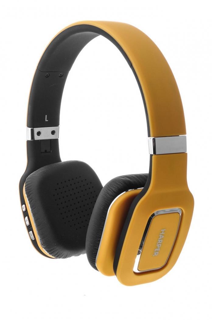 Harper HB-402, Yellow наушникиH00000466Bluetooth Стерео Наушники с Микрофоном Складная конструкция Чистый звук с кабелем или без