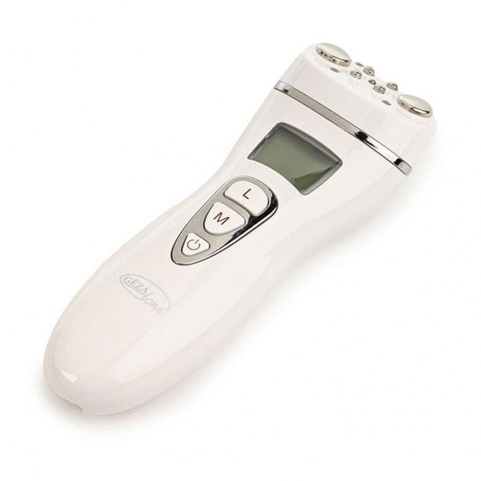 Gezatone Аппарат RF лифтинг для лица и тела m16011301117Gezatone - первый аппарат, который сочетает в себе две самые эффективные методики воздействия для безоперационной подтяжки лица – радиочастотный лифтинг и миостимуляция. Он работает сразу по двум направлениям: подтягивает и укрепляет кожу и восстанавливает утраченный тонус мышц. В устройстве также предусмотрены режимы работы по телу – вы можете использовать его для похудения, уменьшения жировых отложений и коррекции целлюлита. Воздействуя на кожу радиочастотными волнами, которые провоцируют нагрев локальных участков кожи радиочастотное излучение не повреждает кожу, не травмирует эпидермис, нагревая только слои дермы и подкожно-жировой клетчатки. Такого рода нагрев улучшает кровообращение и ток лимфы, восстанавливает деятельность сосудов, активизируются все обменные процессы. Кроме того, RF-лифтинг стимулирует выработку новых волокон коллагена и эластина клетками, что заметно усиливает разглаживающий эффект. Благодаря воздействию методики радиочастотных волн вы...