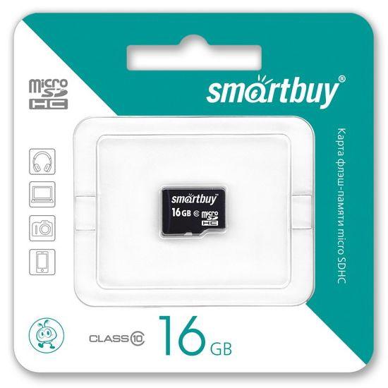 SmartBuy microSDHC Сlass 10 16GB карта памяти (без адаптера)SB16GBSDCL10-00Высоко скоростная 16-гигабайтная карта памяти SmartBuy microSDHC Сlass 10 16GB. Помимо высокой скорости работы и достаточно большого размера памяти карта памяти отличается своей надежностью хранения информации. Несмотря на маленькие размеры карты памяти, она является идеальным вариантом хранения цифровой информации в устройствах с поддержкой MicroSDHC, miniSD, SD.