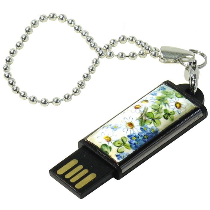 Iconik Ромашки 32GB USB флеш-накопительMTFF-CHAMLE-32GBФлеш-накопитель Iconik Ромашки имеет декоративную панель с рисунком ромашек. У накопителя пластиковый ударопрочный корпус, а высокая пропускная способность и поддержка различных операционных систем делают его незаменимым. Для удобства предусмотрена петля для шнурка.Пропускная способность интерфейса: 480 Мбит/секСовместимость: Windows 8, Windows 7, Windows Vista, Linux, MAC OS X