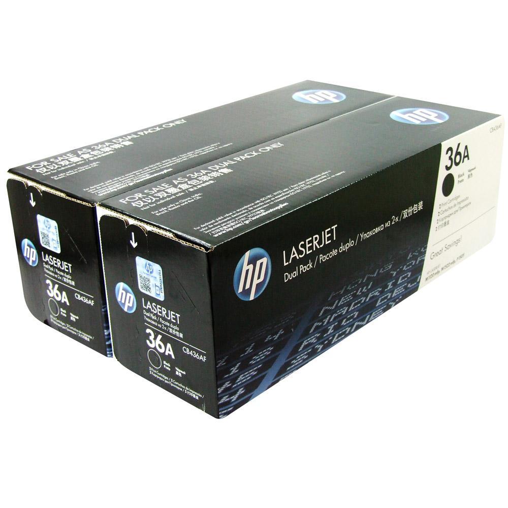 HP CB436AF (36A), Black тонер-картридж для LaserJet M1120/M1522n/P1505CB436AD/CB436AFЭкономичная сдвоенная упаковка картриджей HP CB436AF с чернилами для принтеров HP Laser Jet. Оригинальные расходные материалы HP удобны в приобретении, управлении и использовании. Удобные сдвоенные упаковки оригинальных черных картриджей для принтеров HP LaserJet позволяют свести время простоев к минимуму. Доступная и надежная печать каждый день Наилучшее качество с оригинальными чернилами HP Технология печати: Лазерная