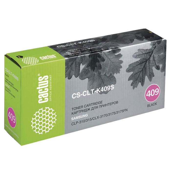 Cactus CS-CLT-K409S, Black тонер-картридж для Samsung CLP-310/315; CLX-3170/3175/3175FNCS-CLT-K409SКартридж Cactus CS-CLT-K409S для лазерных принтеров Samsung. Расходные материалы Cactus для лазерной печати максимизируют характеристики принтера. Обеспечивают повышенную чёткость чёрного текста и плавность переходов оттенков серого цвета и полутонов, позволяют отображать мельчайшие детали изображения. Обеспечивают надежное качество печати.