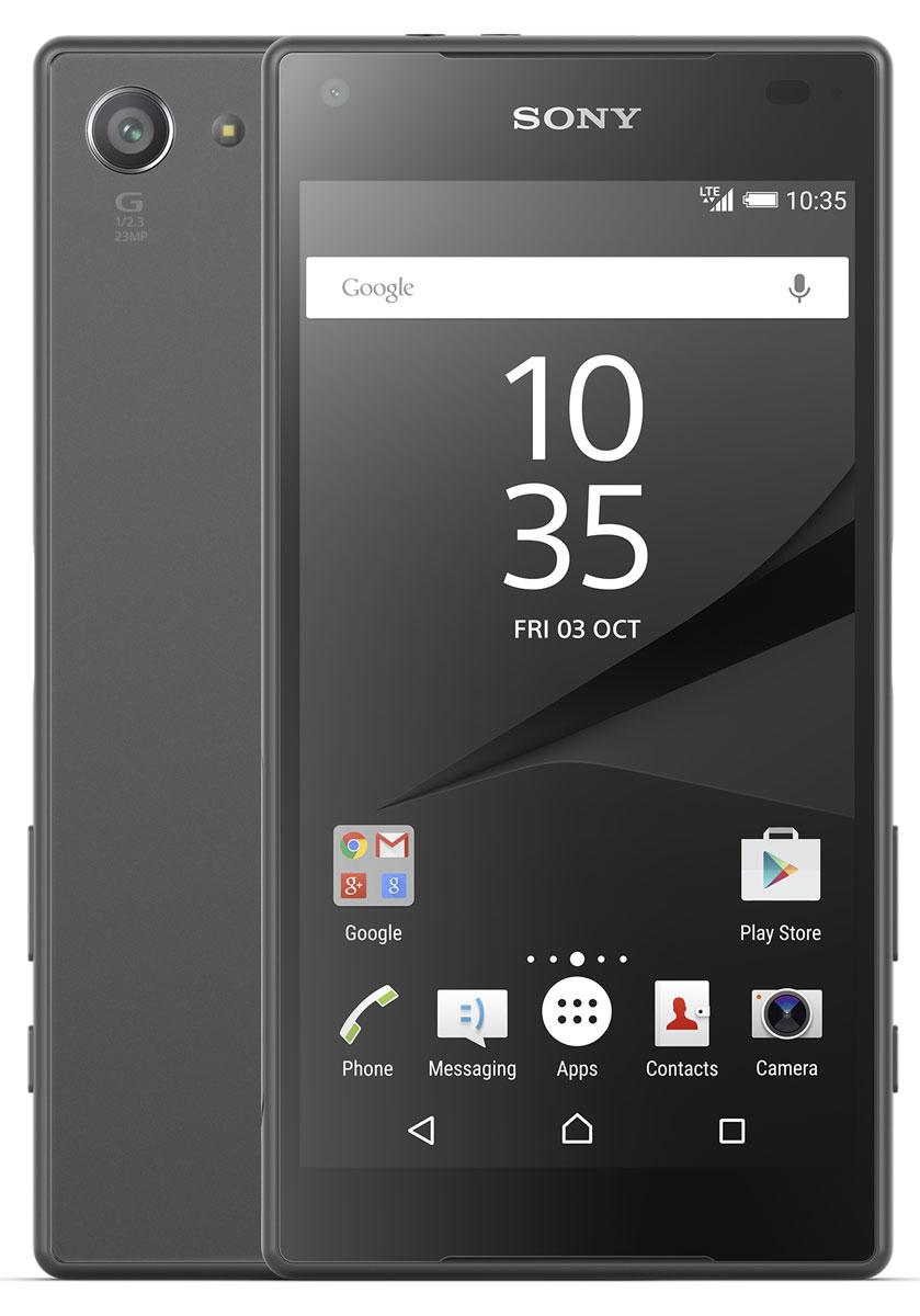Sony Xperia Z5 Compact, Graphite BlackE5823BLKSony Xperia Z5 Compact - не просто функциональный смартфон. Это устройство, которое расширяет ваши возможности и горизонты. По своим функциям он не уступает смартфонам с большими дисплеями, а благодаря компактному размеру его удобнее использовать в повседневной жизни. В нем всё идеально сбалансировано: дизайн, доступный в разных расцветках, инновации, которые позволяют идти в ногу с прогрессом, и комфортный размер дисплея - 4,6 дюйма. Данная модель имеет комфортные для работы компактные размеры, яркий красочный экран и элементы дизайна, которые притягивают взгляды окружающих. Стильное тиснение на рамке и матированное стекло на задней панели никого не оставит равнодушным. С водостойким корпусом Sony вам больше не придется бояться воды Xperia Z5 Compact не боится воды: он имеет водостойкий корпус, способный выдержать погружение на глубину более метра. Поэтому вам нечего беспокоиться, если вы пролили на него жидкость или попали с ним под дождь. ...