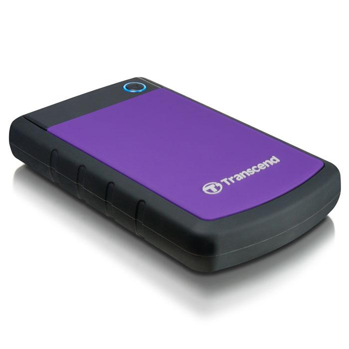 Transcend StoreJet 25H3 500GB, Purple внешний внешний диск (TS500GSJ25H3P)TS500GSJ25H3PПортативный жесткий диск StoreJet 25H3 - это надежное устройство с отличными рабочими характеристиками USB 3.0, емкостью для хранения до 2 ТБ, что позволит хранить около 200 DVD фильмов, и 3-ступенчатой антиударной системой защиты, отвечающей жестким требованиям испытаний U.S. на падение. Устройство StoreJet 25H3 обладает высокой скоростью передачи информации до 90MB/сек., что делает его идеальным выбором для любителей высокой скорости. Передача изображений DVD фильмов возможна за менее, чем 1 минуту! Устройство StoreJet 25H3 отличает прекрасный дизайн - антискользящий резиновый корпус фиолетового или синего цвета, а также высокая степень защиты благодаря укрепленному внешнему кейсу и внутренней системе подвески, что предохраняет устройство от ударов. Также, устройство снабжено кнопкой для удобного быстрого автоматического резервного копирования в одно нажатие, что сделает процесс синхронизации данных и резервного копирования максимально быстрым и...