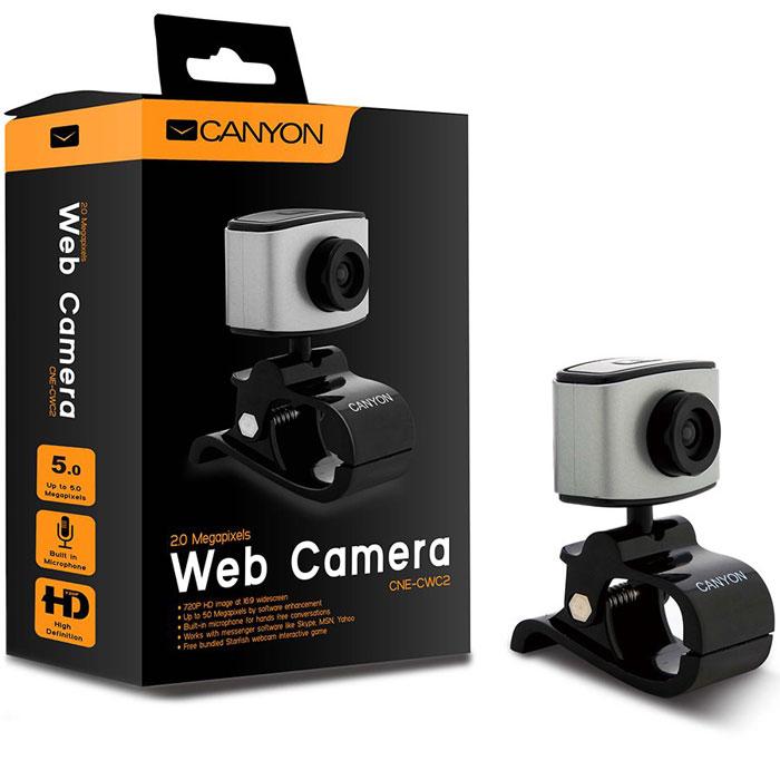 Canyon CNE-CWC2 веб-камераCNE-CWC2Веб-камера Canyon CNE-CWC2 оснащена ручной настройкой фокусировки и функцией отслеживания лица. Разрешения сенсора составляет 2 мегапикселя, что позволит вам получить чёткие изображения и записывать видео. Камера имеет строгий дизайн, практичную функциональность и позволяет получить лучшее качество за меньшие деньги. Максимальная частота захвата кадров: 30 кадров/с Длина кабеля: 1,25 м