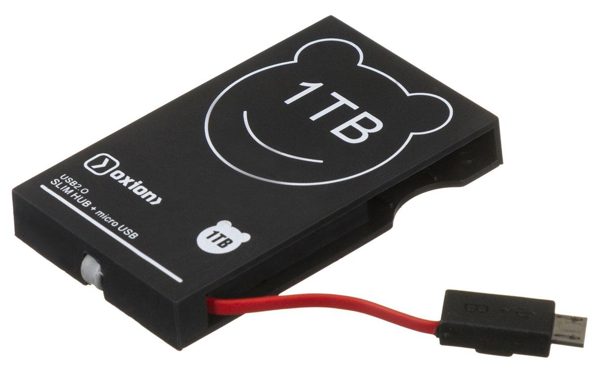 Oxion OHB006, Black USB-концентратор OHB006BK