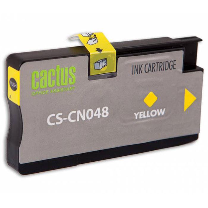 Cactus CS-CN048, Yellow струйный картридж для HP OfficeJet Pro 8100/ 8600CS-CN048Картридж Cactus CS-CN048 для струйных принтеров HP. Расходные материалы Cactus для печати максимизируют характеристики принтера. Обеспечивают повышенную четкость изображения и плавность переходов оттенков и полутонов, позволяют отображать мельчайшие детали изображения. Обеспечивают надежное качество печати.