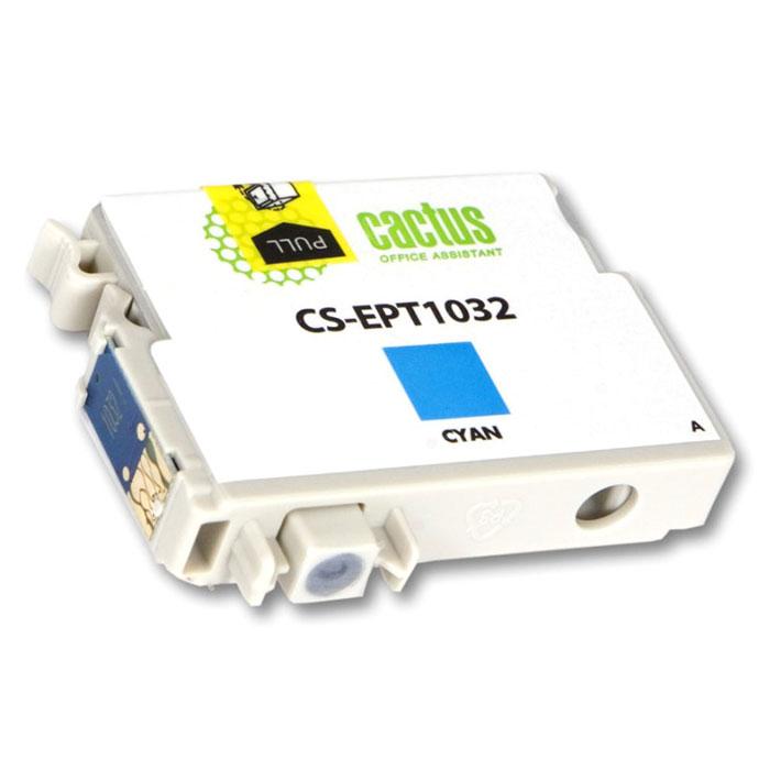 Cactus CS-EPT1032, Cyan струйный картридж для Epson Stylus Office T30/T40W/TX600FWCS-EPT1032Картридж Cactus CS-EPT1032 для струйных принтеров Epson. Расходные материалы Cactus для печати максимизируют характеристики принтера. Обеспечивают повышенную четкость изображения и плавность переходов оттенков и полутонов, позволяют отображать мельчайшие детали изображения. Обеспечивают надежное качество печати.