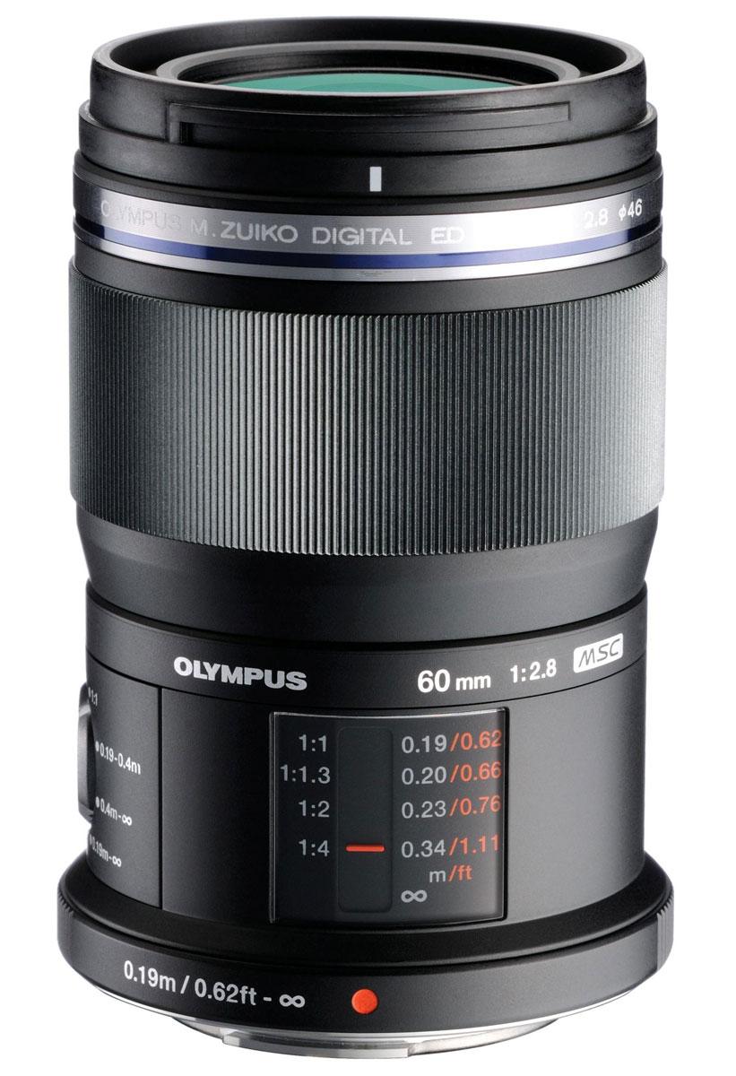 Olympus M.Zuiko Digital ED 60mm f/2.8, Black макрообъективV312010BE000Хотите снимать макро с потрясающей детализацией и высоким контрастом? Тогда взгляните но объектив Olympus M.Zuiko Digital ED 60mm f/2.8. С его помощью вы сможете снимать с близкого расстояния в масштабе 1:1. Высокое качество сборки и внутренний механизм фокусировки позволяют этому объективу гарантировать отличное качество при съемке макро, а также пейзажей и портретов. Высокая светосила поможет красиво размыть задний план и подчеркнуть главный объект съемки. Но это еще не все. Объектив заключен во всепогодный корпус. Также к вашим услугам кольцо фокусировки для быстрого изменения диапазона фокусировки (0,19-0,4м или 0,19м-бесконечность или 0,4м-бесконечность). Объектив оснащен специальным дисплеем, на котором отображается дистанция фокусировки для полного контроля. Особенности: Покрытие ZERO (Zuiko с никзим уровем отражения) для уменьшения отражений Внутренний механизм фокусировки с технологией MSC Системные аксессуары для макро...