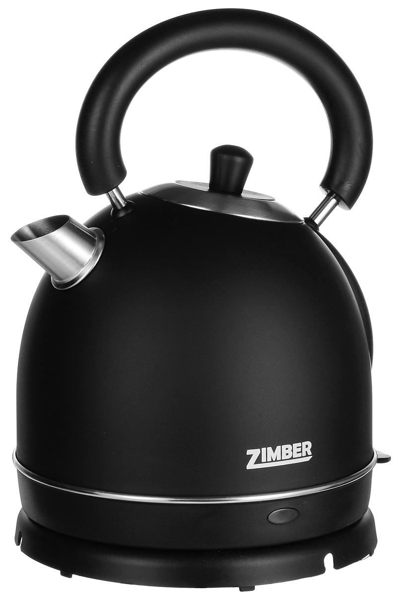 Zimber ZM-10768, Black электрический чайникZM-10768Zimber ZM-10768 - надежный электрический чайник емкостью 1,8 л. Корпус модели выполнен из нержавеющей стали высокого качества, что обеспечивает его устойчивость к коррозии. Скрытый нагревательный элемент также изготовлен из нержавеющей стали. Для удобного и безопасного использования чайник обладает системой защиты от кипячения без воды, функцией автоматического отключения, а также эргономичной ручкой и крупным носиком.