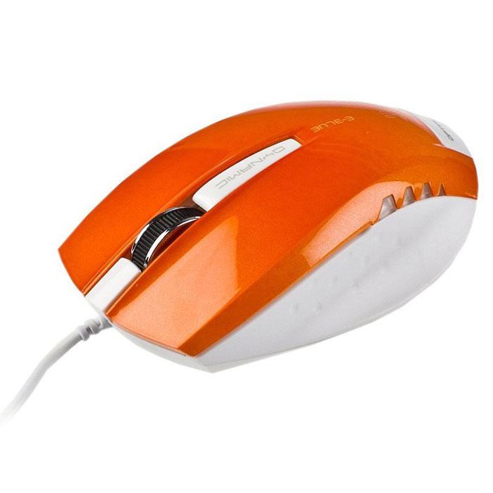 E-Blue EMS102 Dynamic, Orange мышь проводнаяEMS102YEПроводная компьютерная мышь E-Blue EMS102 Dynamic безусловно станет для вас незаменимым помощником. Компактные размеры делают эту мышь очень удобной для работы с ноутбуком, поскольку она занимает совсем мало места в сумке. Металлическое колесо прокрутки обеспечивает максимальное удобство во время длительной работы за компьютером.